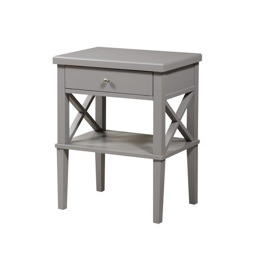 Marta Gray Nightstand Comfort Pointe Nightstands Nightstands Bedroom Furniture