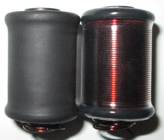 Black Dog Hand wound Black and Clear coils available from www.tattooinc.co.za