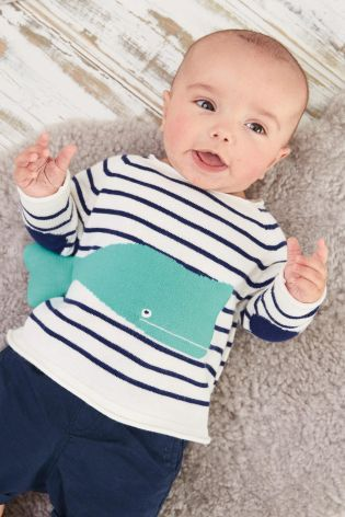 Buy Navy/White Whale Jumper (0mths-2yrs) online today at Next: United States of America