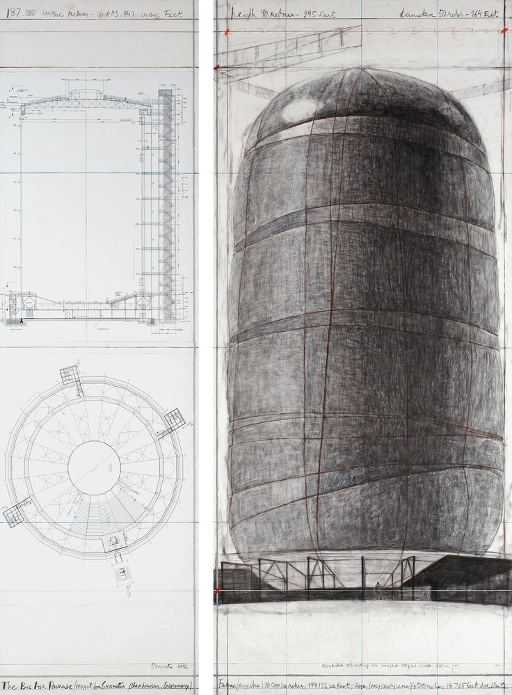 The Big Air Package (Project for Gasometer, Oberhausen, Germany)