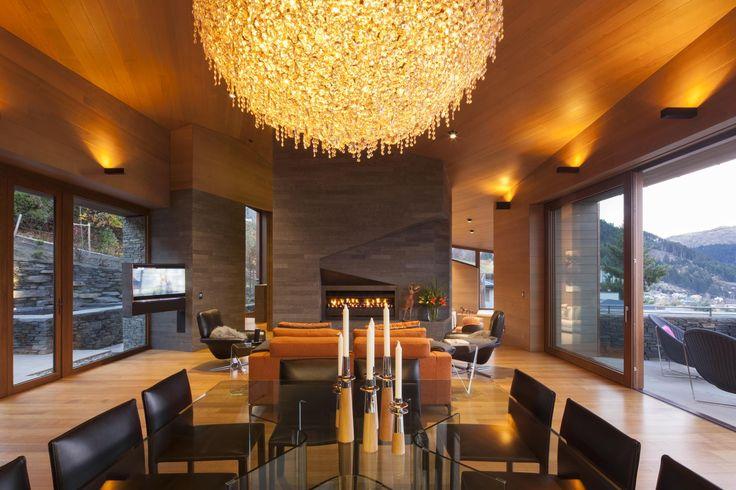 The stylish dining area