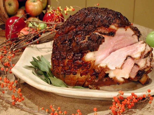 Roasted Fresh Ham with Cider Glaze Recipe : Food Network Kitchens : Food Network - FoodNetwork.com