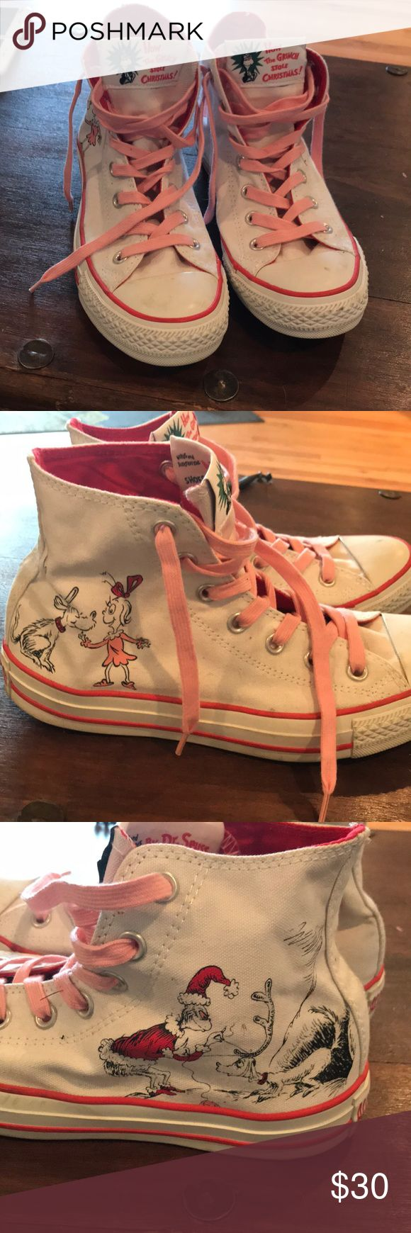 How the grinch stole Christmas converse size 8 How the grinch stole Christmas converse size 8 Converse Shoes Sneakers