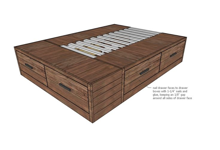 Ana White | Build a Brandy Scrap Wood Storage Bed with Drawers | Free and Easy DIY Project and Furniture Plans