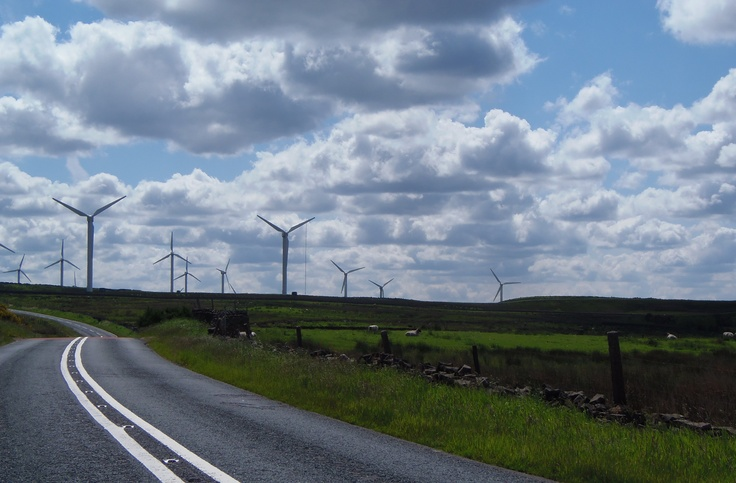 road to the windmills....Burnley
