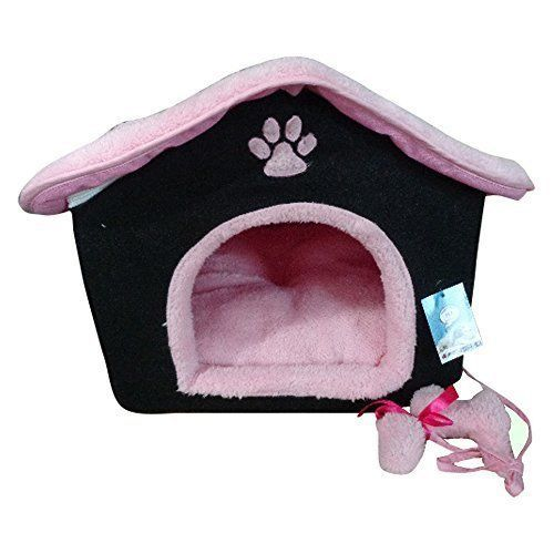 Cozy Cat Bed House Indoor Kittens Premium Ultra Soft Plush Washable Cushion NEW #CatBedHouse
