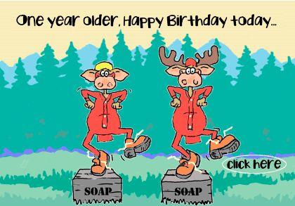 Dancing soapbox Birthday moose