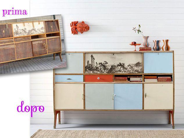 Oltre 25 fantastiche idee su arredamento per la casa stile anni 39 60 su pinterest mobili anni - Decoupage su mobili vecchi ...
