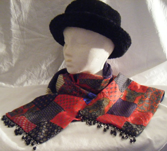 Scarf pieced from old neckties!