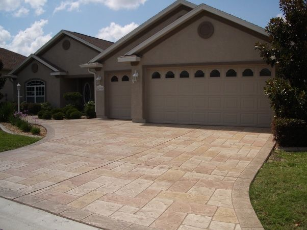 Painted Driveways Driveway Redo Plain Old Concrete Drive Now Has Special Concrete And