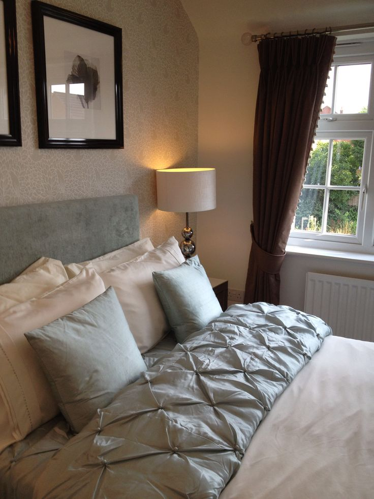 Duck egg bedroom in showhome