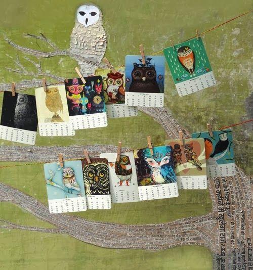 ReFab Diaries: Fab: Free printable 2014 calendar - Owl lovers!