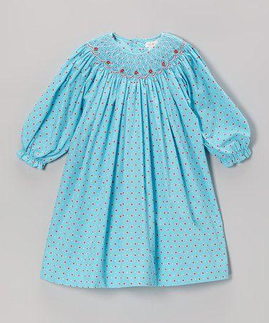 Turquoise & Red Dot Bishop Dress - Infant & Toddler #zulily #zulilyfinds