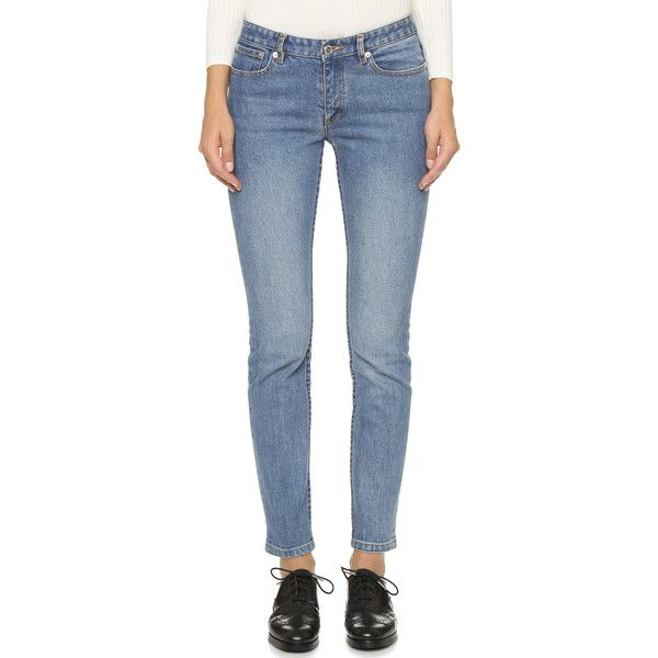 A.P.C. Jean Moulant Jeans ($210) ❤ liked on Polyvore featuring jeans