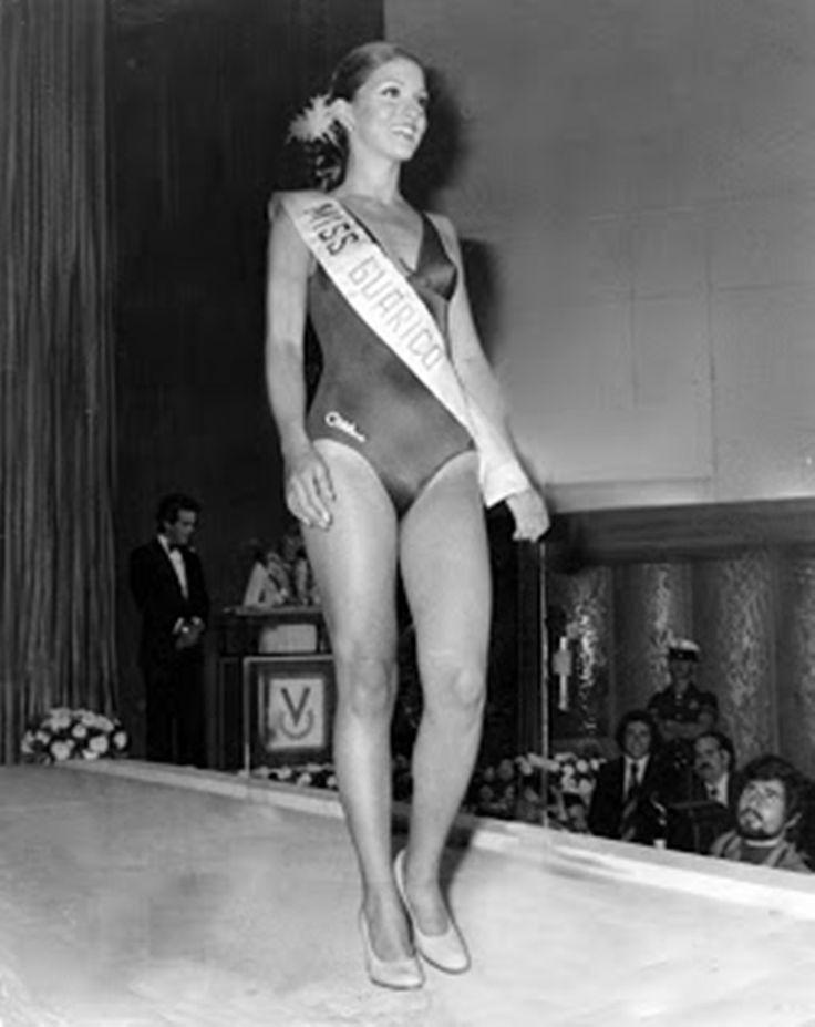 Miss Guarico, Elluz Peraza en su Desfile en Traje de Baño en el Miss Venezuela 1976..