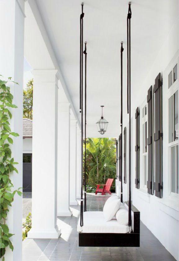 Minimalistic porch swing