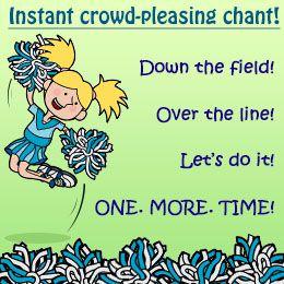 Cheerleading chant for baseball