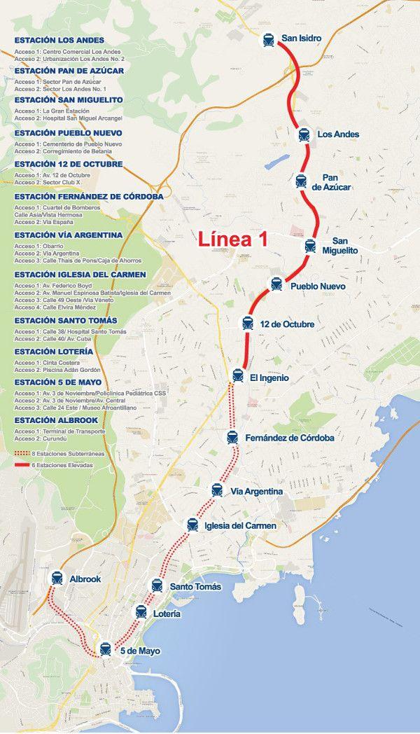 Afin de trouver une alternative aux transports en bus, le métro de Panama fit parti du National Master Plan et fut opérationnel le 6 avril 2014. Le gouvernement central lança un appel d'offre pour sa construction et c'est le groupement Linea Uno qui remporta le marché. En 2009, le consortium Systra et POYRY/Cal y Mayor y Asociados fut impliqué dans le projet et les différents travaux de prévision, les études de faisabilité, l'estimation des coûts etc… démarrèrent. #panama #metro