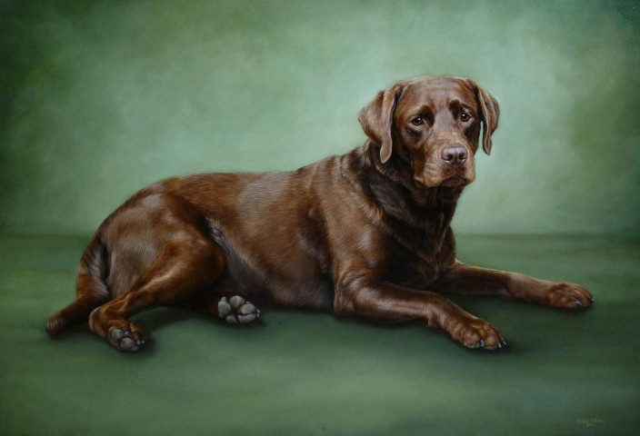 Who doesn't love chocolate?  This is an oil on panel portrait.  Nearly life size!  © Lisa Ober