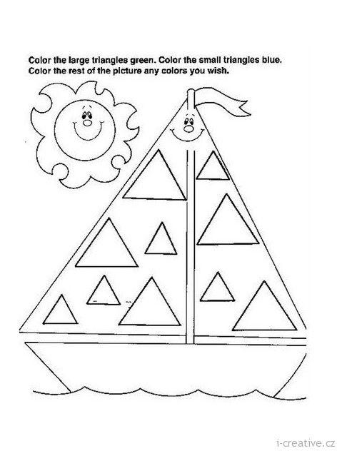 pracovní list trojuhelníky