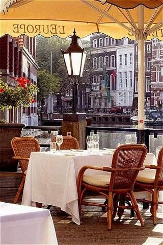Outside dining at Hotel de l'Europe in Amsterdam