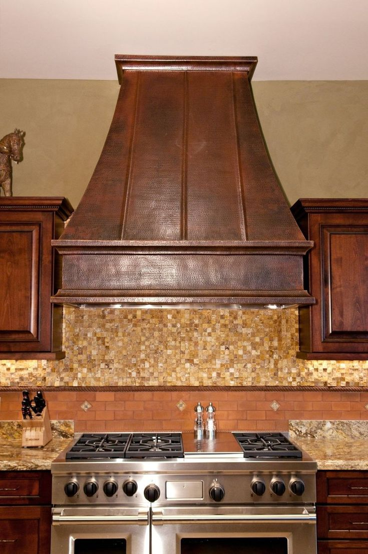 How to install a range hood vent - Creative Ideas Incredible Kitchen Areas With Wood Kitchen Vent Hood And Brown Mosaic Tile Kitchen Backsplash Also Stainless Steel Stove Kitchen Hood Ideas