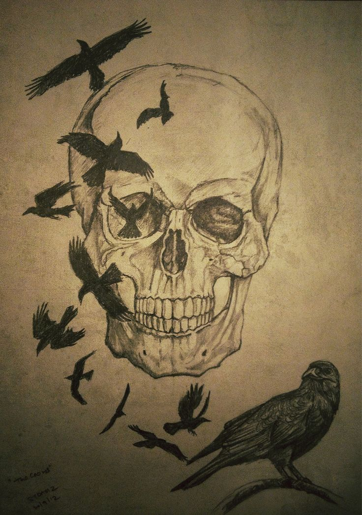 Th crows see more at art of damz art pinterest crows for Ravens face tattoos