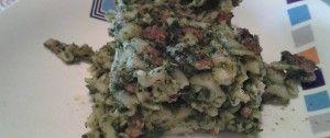 Zapečené špenátové těstoviny s nivou