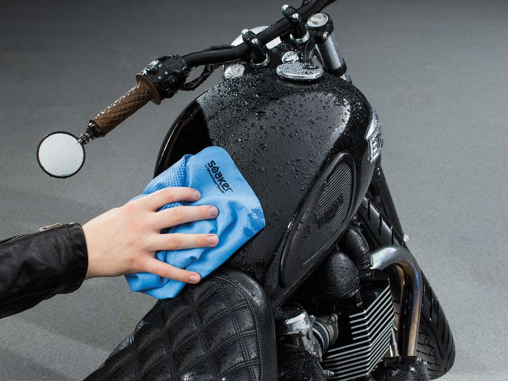 Quickly dry your ride with the WeatherTech Soaker! #motorcycle