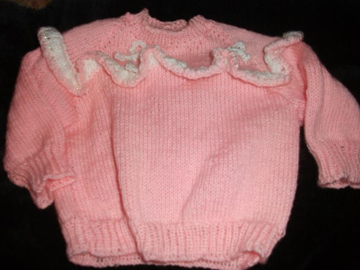 Ruffle Jumper - Knitting creation by mobilecrafts | Knit.Community