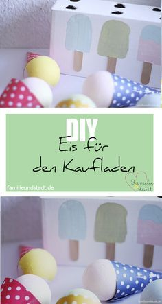DIY Eis für die Kinderküche basteln aus Pappe und Styroporkugeln