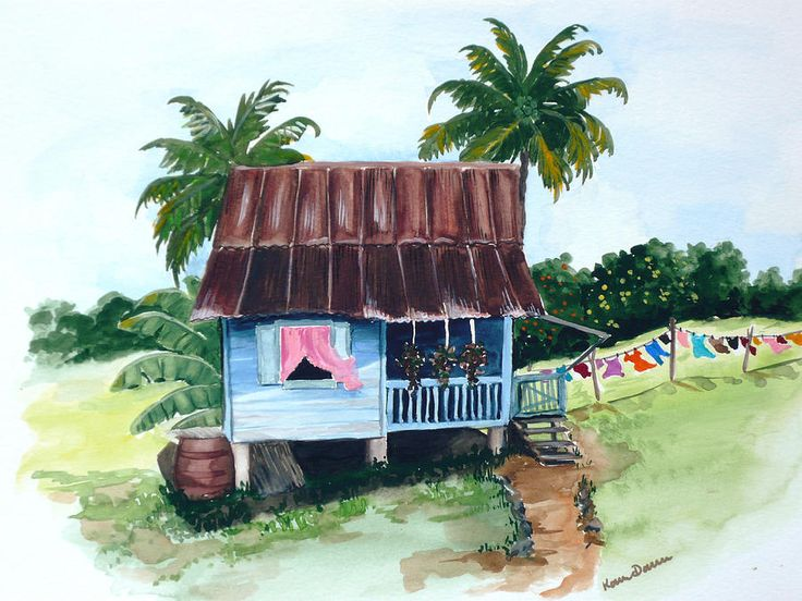 Trini Roti Shop Painting By Karin Kelshall