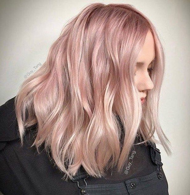 42 Trendy Rose Gold Blonde Hair Color Ideas Rose Gold Hair Highlights Rose Gold Hair Toner Rose Gold Hair Ombr Pink Blonde Hair Light Pink Hair Hair Shades