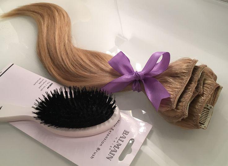 Clip In Extensions Set zur Haarverlängerung in den Farben Aschblond/Hellblond