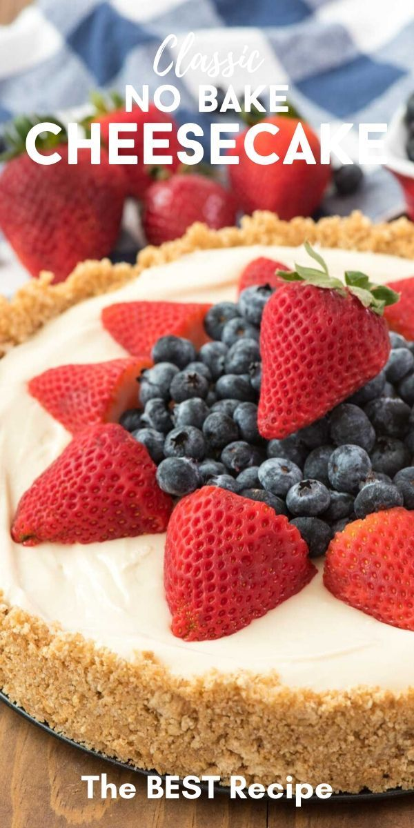 The Best No Bake Cheesecake Recipe Crazy For Crust Recipe In 2020 Best No Bake Cheesecake Cheesecake Recipes Baking