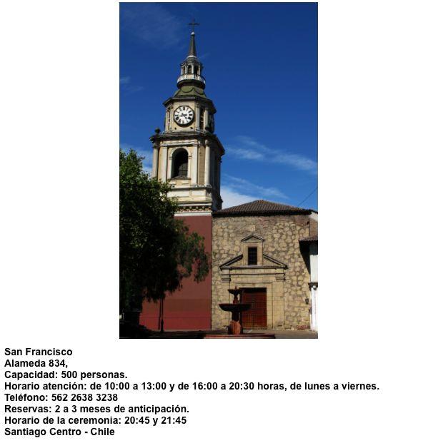 Iglesia San Francisco  Alameda 834  Santiago - Chile