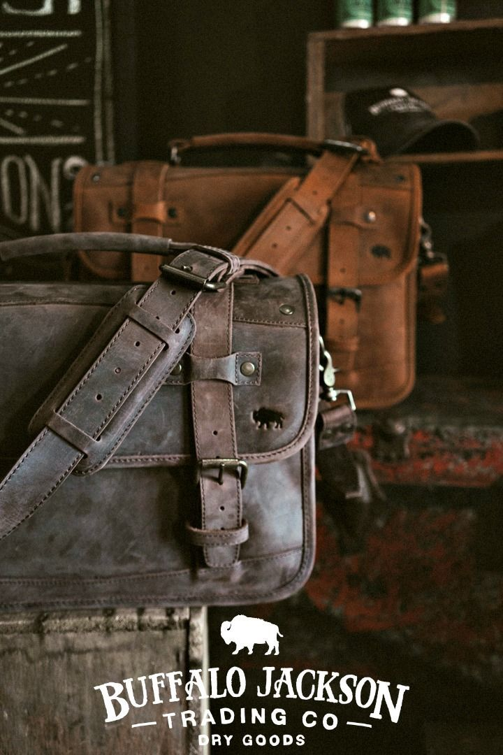This men's leather briefcase bag is a rugged briefcase for a rugged man. Whether…