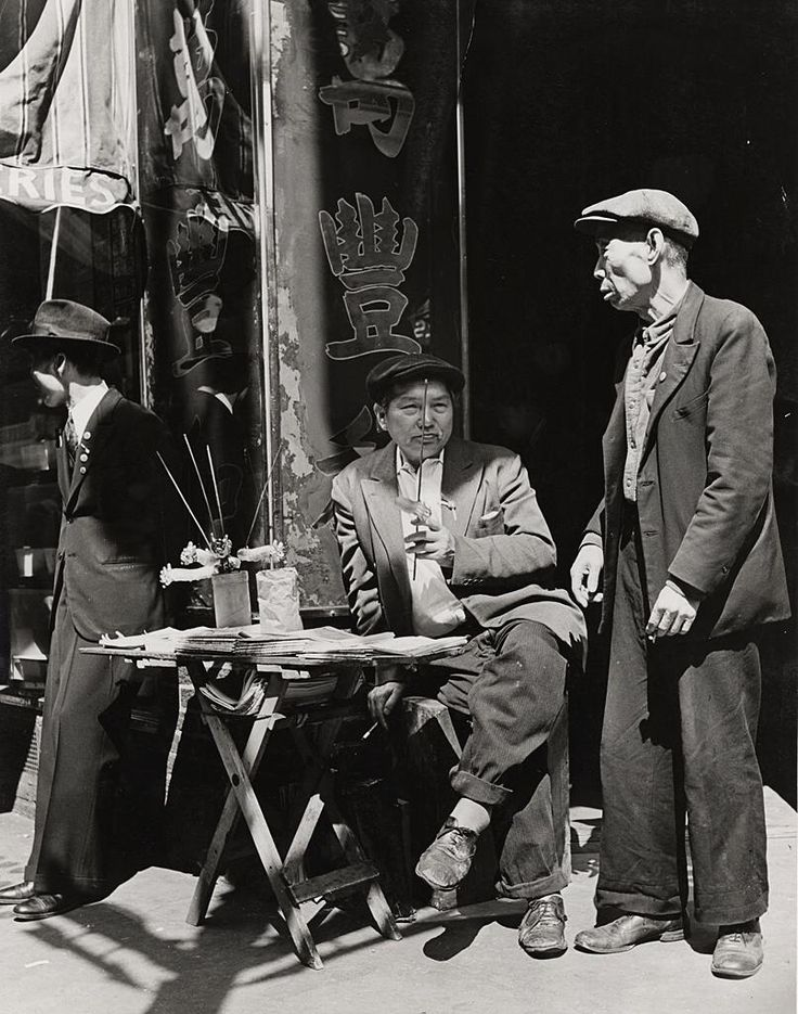 Andreas Feininger  Chinatown, Mott Street. Chinese Newspaper Stand, New York, 1941