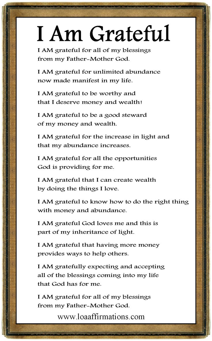 I am grateful for the opportunity to share with everyone here on our/your LOA Affirmations FB page. You are all very special and I thank you all for being a very important part of my life. Keep growing and keep sharing your journey. Please come join our family - http://www.facebook.com/loaaffirmations    God bless you all - Rob