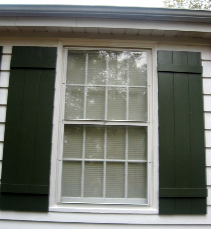 Making these board and batten shutters this winter for the outside of our house - in black...of course!