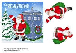 DR WHO CHRISTMAS CARD FOR GRANDAUGHTER WITH 3D SANTA on Craftsuprint - View Now!
