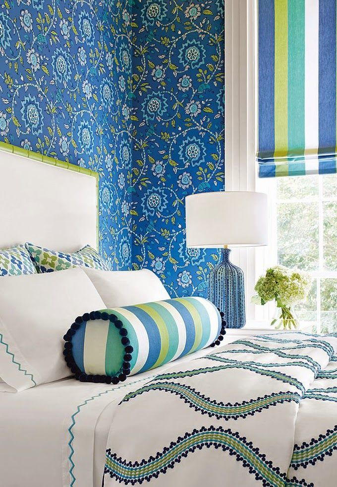 17 best images about fabrics textiles wallpaper on for Turquoise wallpaper for bedroom