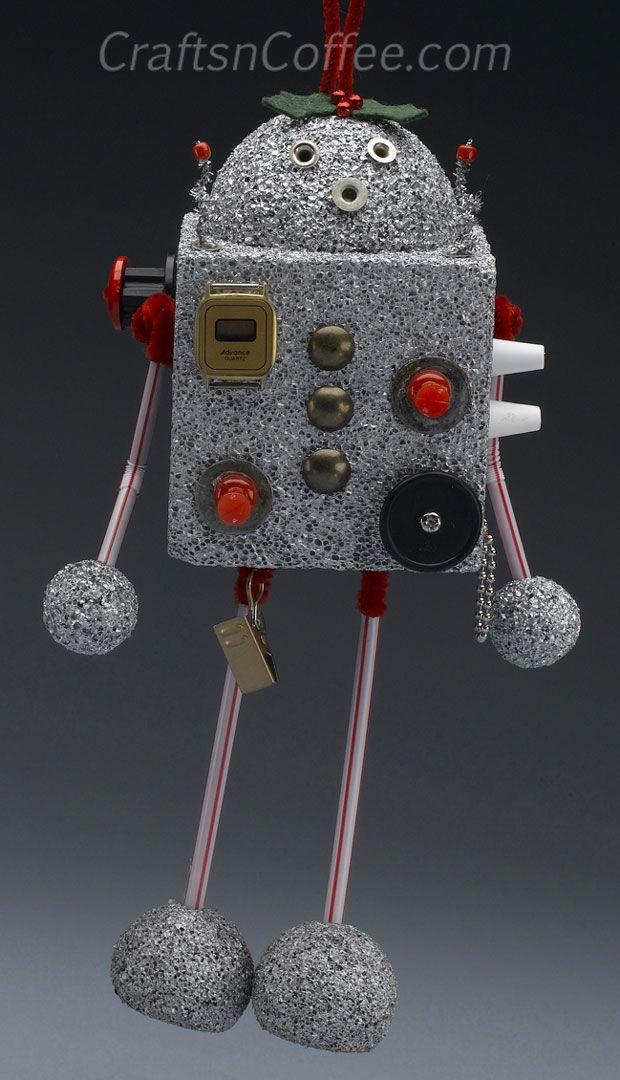 how to make a robot made of recycled materials