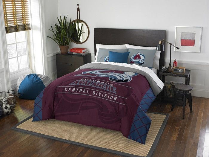 Colorado Avalanche NHL Draft Full-Queen Comforter Set. Includes Comforter and 2-Shams. Visit SportsFansPlus.com for Details.