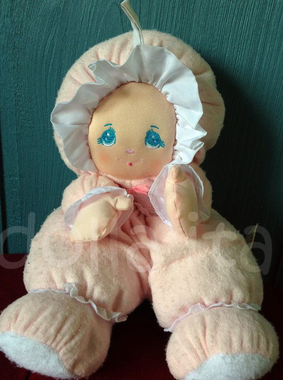 Vintage 1994 Little Darlin S Pink 14 Plush Baby Doll By