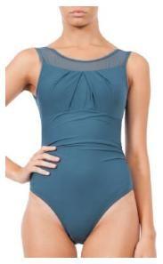 ... blue high-necked mastectomy swimwear