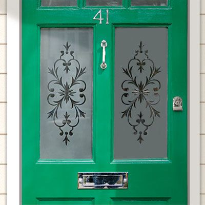 Etching cream, a stencil, and a few other easy-to-find items are all you need to give your windows Victorian detail. | Photo: Getty Images | Learn how @ thisoldhouse.com