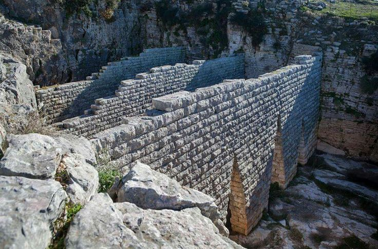 Ancient Cistern. Hellenistic citadel of Pleuron. Acarnania-Greece