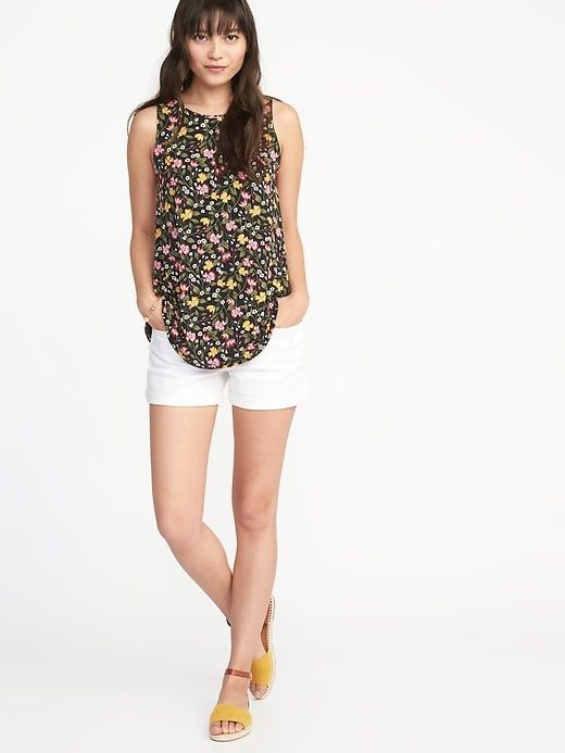 f6902ca14fd40 Luxe high-neck printed swing tank from Old Navy