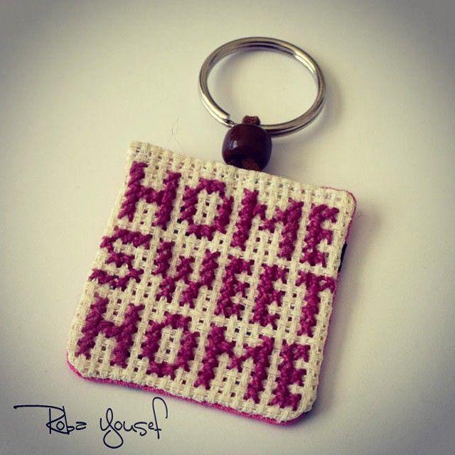 #CrossStitch  #crafts #Keychain